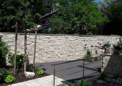 Steinmauer - gebaut von Goldwerk Garten- und Landschaftsbau